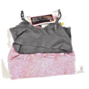 516f4bcc5b81db Lily of France Intimates   Sleepwear - 2 Sensational Lace Pink Purple  BRALETTE  2179106